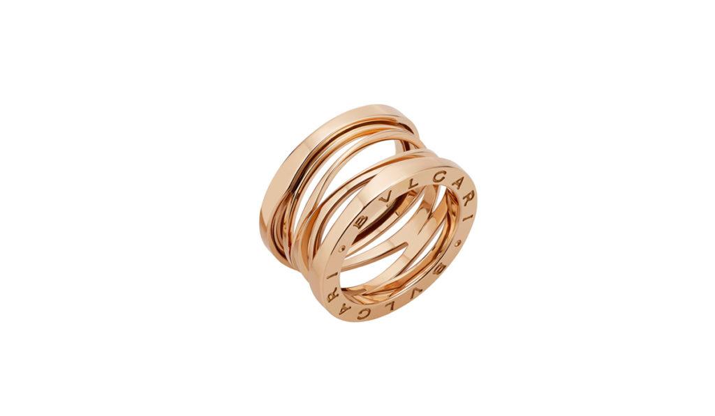 anello BULGARI BZeroUno Design Legend oro rosa